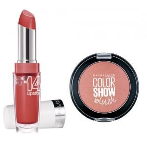 Buy Maybelline New York Superstay 14H Megawatt - 455 Burst Of Coral + Free Color Show Blush - Creamy Cinnamon - Nykaa
