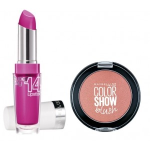 Buy Herbal Maybelline New York Superstay 14H Megawatt - 120 Neon Pink + Free Color Show Blush - Creamy Cinnamon - Nykaa