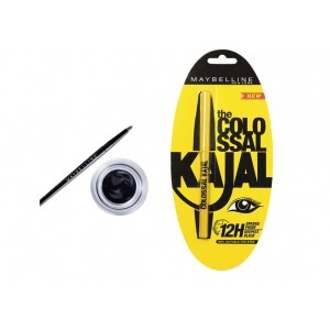 Buy Maybelline Eye Studio Lasting Drama Gel Eyeliner - Black + Free Colossal Kajal - Nykaa