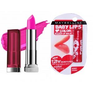 Buy Buy Maybelline New York Color Sensational Lip Color - Fuchsia Flash & Get  Baby Lips Color Lip Balm Free - Nykaa