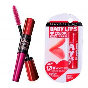 Buy Buy Maybelline New York Falsies Push Up Drama Mascara - Washable & Get Baby Lips Color Balm Free - Nykaa