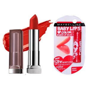 Buy Buy Maybelline New York Color Sensational Creamy Matte Lipstick - Siren In Scarlet & Get Baby Lips Color Lip Balm Free - Nykaa
