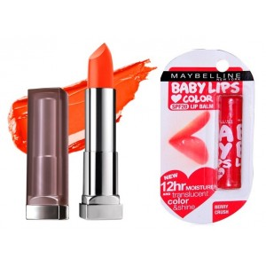 Buy Buy Maybelline New York Color Sensational Creamy Matte Lipstick - Craving Coral & Get Baby Lips Color Lip Balm Free - Nykaa