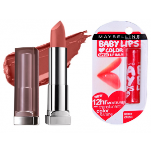 Buy Buy Maybelline New York Color Sensational Creamy Matte Lipstick - Nude Nuance & Get Baby Lips Color Lip Balm Free - Nykaa