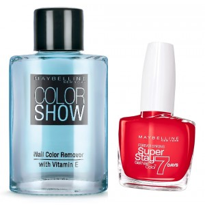 Buy Maybelline New York Forever Strong Super Stay 7 Days Gel Nail Color - 08 Passionate Red + Free Color Show Nail Color Remover - Nykaa