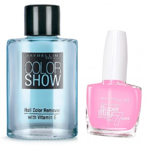 Buy Maybelline New York Forever Strong Super Stay 7 Days Gel Nail Color - 21 Pink + Free Color Show Nail Color Remover - Nykaa