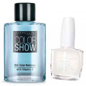 Buy Maybelline New York Forever Strong Super Stay 7 Days Gel Nail Color - 71 Pure + Free Color Show Nail Color Remover - Nykaa
