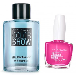 Buy Maybelline New York Forever Strong Super Stay 7 Days Gel Nail Color - 155 Bubble Gum + Free Color Show Nail Color Remover - Nykaa