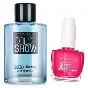 Buy Maybelline New York Forever Strong Super Stay 7 Days Gel Nail Color - 180 Rosy Pink + Free Color Show Nail Color Remover - Nykaa