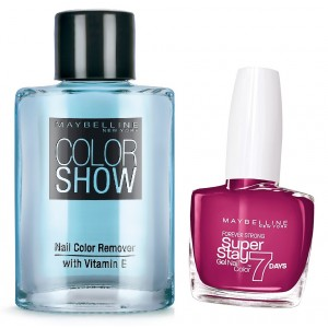 Buy Maybelline New York Forever Strong Super Stay 7 Days Gel Nail Color - 265 Divine Wine + Free Color Show Nail Color Remover - Nykaa