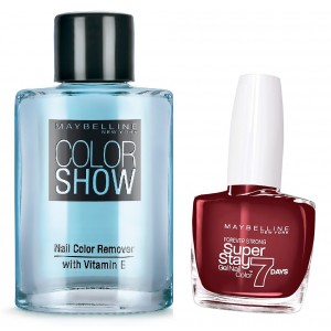 Buy Maybelline New York Forever Strong Super Stay 7 Days Gel Nail Color - 287 Midnight Red + Free Color Show Nail Color Remover - Nykaa