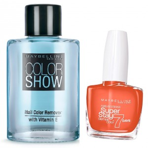 Buy Maybelline New York Forever Strong Super Stay 7 Days Gel Nail Color - 460 Couture Orange + Free Color Show Nail Color Remover - Nykaa