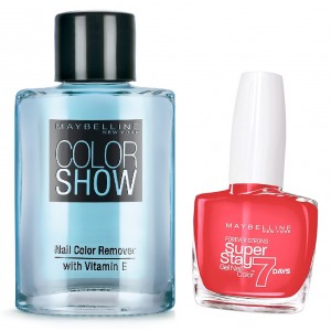 Buy Maybelline New York Forever Strong Super Stay 7 Days Gel Nail Color - 490 Hot Salsa + Free Color Show Nail Color Remover - Nykaa