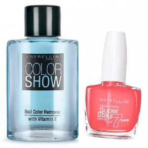 Buy Maybelline New York Forever Strong Super Stay 7 Days Gel Nail Color - 872 Red Hot Getaway + Free Color Show Nail Color Remover - Nykaa