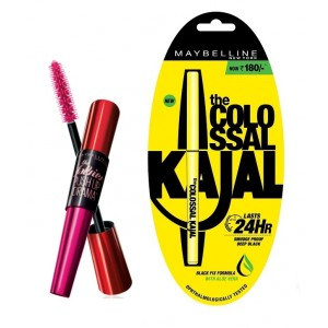 Buy Maybelline New York Falsies Push Up Drama Mascara - Waterproof + Free Colossal Kajal 24HR - Nykaa