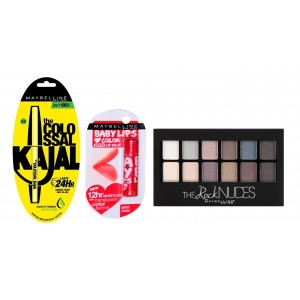 Buy Buy Maybelline New York The Rock Nudes Palette & Get Colossal Kajal 24HR & Baby Lips Free - Nykaa
