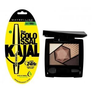Buy Maybelline New York Color Sensational Diamonds Eye Shadow - Topaz Gold + Free Colossal Kajal 24HR - Nykaa