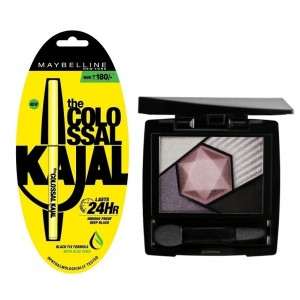 Buy Maybelline New York Color Sensational Diamonds Eye Shadow - Tourmaline Purple + Free Colossal Kajal 24HR - Nykaa
