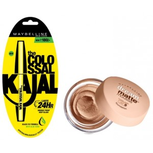 Buy Maybelline New York Dream Matte Mousse Foundation - 2ClassicIvory + Free Colossal Kajal 24HR - Nykaa