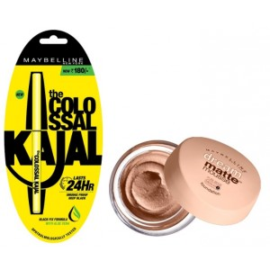 Buy Maybelline New York Dream Matte Mousse Foundation - 70 Pure Beige Medium + Free Colossal Kajal 24HR - Nykaa