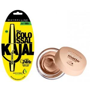 Buy Maybelline New York Dream Matte Mousse Foundation - Light Nude + Free Colossal Kajal 24HR - Nykaa
