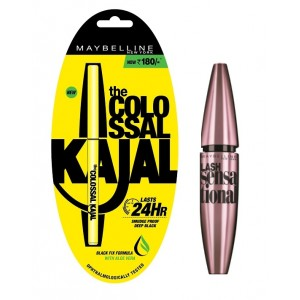 Buy Maybelline New York Lash Sensational Mascara - Washable Black + Free Colossal Kajal 24HR - Nykaa