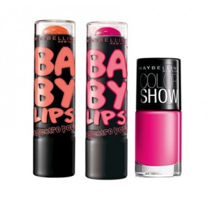 Buy Maybelline New York Baby Lips Electro Pop - Oh! Orange! + Pink Shock With Free Color Show Nail Lacquer - Nykaa