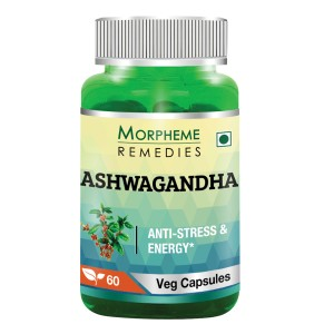 Buy Morpheme Remedies Ashwagandha (Withania somnifera) - Anti-Stress & Energy - 500mg Extract - Nykaa