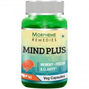 Buy Herbal Morpheme Remedies Mind-Plus Capsules For Mental Alertness - 500mg Extract - Nykaa