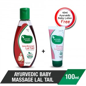Buy Mother Sparsh Ayurvedic Lal Tail Baby Massage + Free Baby Lotion - Nykaa