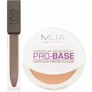 Buy MUA Luxe Metallic Liquid Lipstick - Luster +  Pro - Base Matte Satin Pressed Powder - Beige Flush - Nykaa