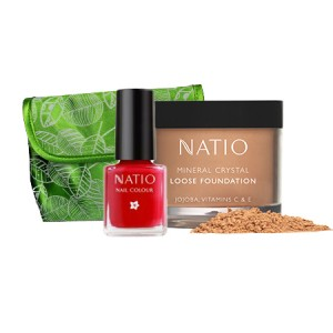 Buy Natio Mineral Crystal Loose Foundation + Mini Nail Colour Combo Kit - Nykaa