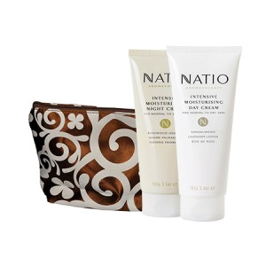 Buy Natio Intensive Moisturising Day Cream + Intensive Moisturising Night Cream Combo Kit With Bag - Nykaa