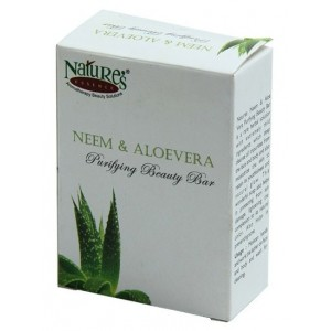 Buy Nature's Essence Neem & Aloevera Purifying Beauty Bar - Nykaa