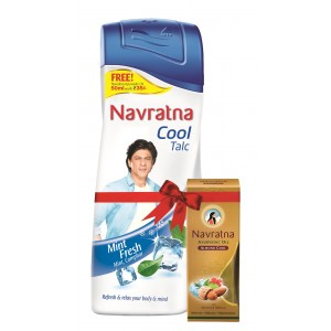 Buy Navratna Cool Mint Fresh Talc With Free Navratna Almond Cool Oil(Worth Rs.35) - Nykaa