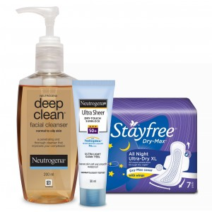 Buy Personal Care Essentials - Stayfree & Neutrogena Combo 2 - Nykaa