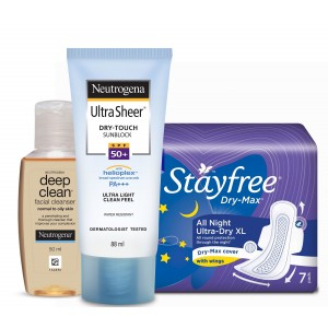 Buy Personal Care Essentials - Stayfree & Neutrogena Combo 4 - Nykaa