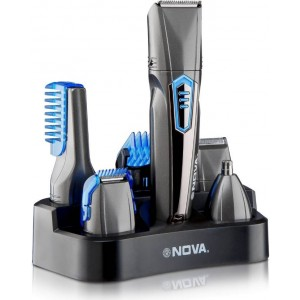 Buy Nova NG 1175 100% Water Proof All In One Head To Toe Multigroomer Grooming Kit For Men (Grey) - Nykaa