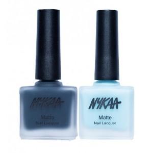 Buy Nykaa Matte Nail Enamel - Into The Sea Combo - Nykaa