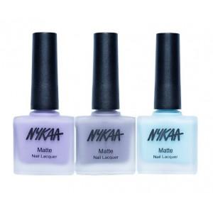 Buy Nykaa Matte Nail Enamel - Blue Me Away Combo - Nykaa
