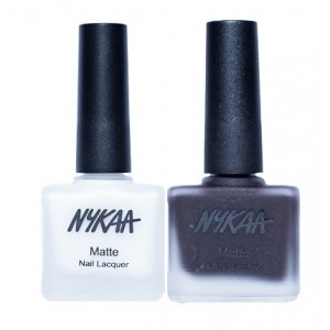 Buy Nykaa Matte Nail Enamel - No Matter If Its Black Or White Combo - Nykaa
