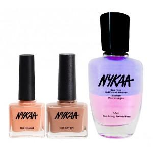 Buy Nykaa Big Boss Lady Nail Enamel Combo + Nykaa Dual Tone Nail Enamel Remover - Nykaa