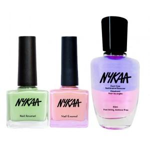 Buy Nykaa Put A Ring On It Nail Enamel Combo + Nykaa Dual Tone Nail Enamel Remover - Nykaa