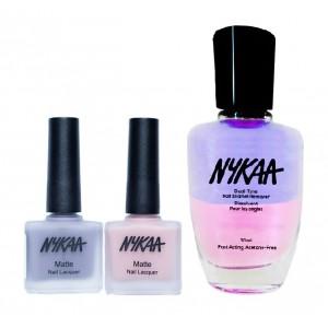 Buy Nykaa Matte Nail Enamel - Lovey Dovey Combo + Nykaa Dual Tone Nail Enamel Remover - Nykaa