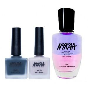 Buy Herbal Nykaa Matte Nail Enamel - Glam Time Combo + Nykaa Dual Tone Nail Enamel Remover - Nykaa