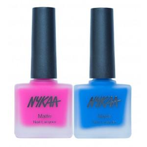 Buy Nykaa Neon Matte Trance Mania Nail Enamel Combo - Nykaa