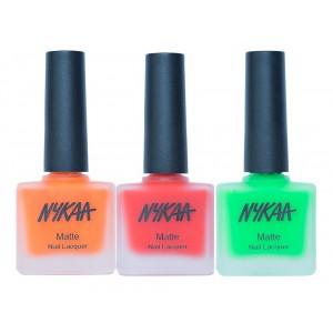 Buy Nykaa Neon Matte Popsicle Fun Nail Enamel Combo - Nykaa