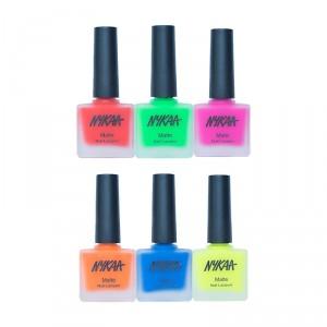 Buy Nykaa Neon Matte Go Bright Nail Enamel Combo - Nykaa