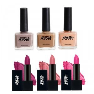 Buy Nykaa Hot Pop Pink Lipstick & Nail Combo - Nykaa
