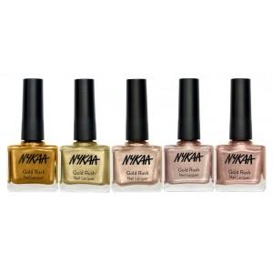 Buy Herbal Nykaa Gold Rush Collection Nail Enamel Combo - Nykaa